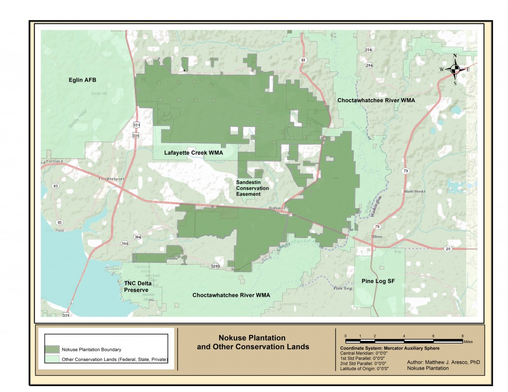 Nokuse and Other Conservation Lands Map